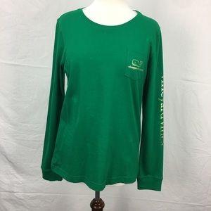 Vineyard Vines Green  Graphic LS T-Shirt